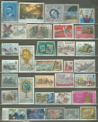 Worldwide 32 Different Used+Mnh Stamps Lot Collection (230)