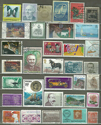 Worldwide 33 Different Used+Mnh Stamps Lot Collection (232)