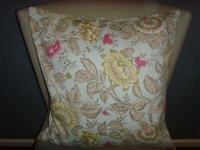 BLENDWORTH WEDGWOOD TONQUIN  PRINT CUSHION COVER fits 18in pad DUCK EGG BLUE