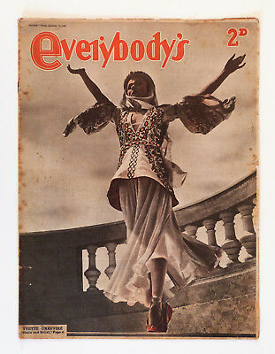 Vintage Everybody's Weekly Magazine: Sept 14th 1946, Yvette Chauvire.