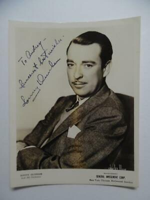 1942 Sonny Dunham Bandleader Jazz Trumpet Player Signed Inscribed Photo Vintage