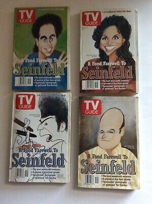 Seinfeld Farewell Tv Guide 1998 Set Of 4 Uncirculated Southeast PA