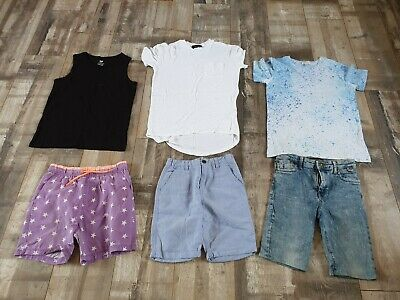 Boys Summer Clothes Bundle Age 7-8 Years by River Island & H&M