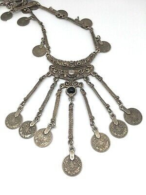 ANTIQUE Islamic 800 silver Necklace handmade handcrafted!