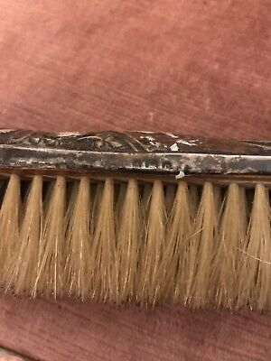 Antique Silver Backed Clothes Brush