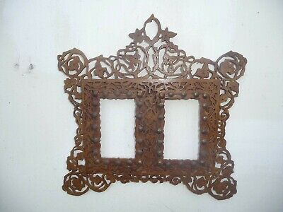 VINTAGE BLACK FOREST PICTURE FRAME FRETWORK for HOLDING 2  PHOTOS