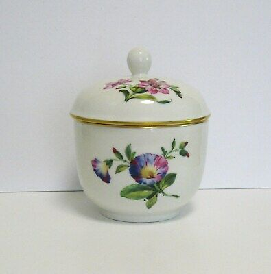 Beautiful Vintage Kpm Germany Hand Painted Flower With Gold Porcelain Box  & Lid