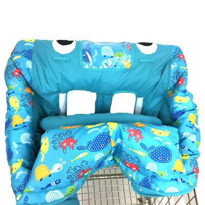 Portable Baby Shopping Cart Travel Bag Dining Chair Cover Shark Play Pad