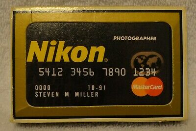 Nikon Playing Cards Master Credit Card Promotional Deck Collectible Gemaco USA
