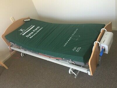 Hospital grade electric adjustable bed and mattress