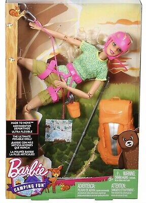 Barbie Camping Fun Rock Climber Hiking Doll Made to Move The Ultimate Posable