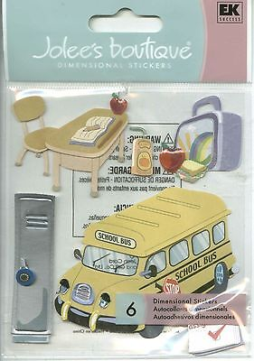 NEW 9 pc FIELD TRIP Travel School Bus Camera Backpack Lunch JOLEE/'S 3D Stickers