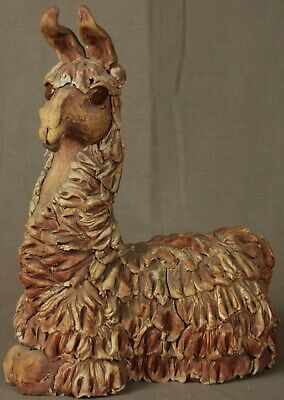 OOAK Ceramic Llama Statuette Hand Sculpted by Mary Fortua