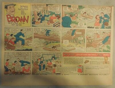 Joe E. Brown Post Grape-Nuts Flakes Cereal Ad from 1930's 11 x 15 Inches
