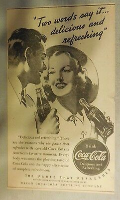 """Coca-Cola ad: """"Two Words Say It"""" 1930's ~ 6.5 x 9 inches 1930's"""