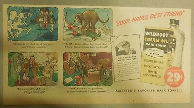 Wildroot Cream-Oil Hair Tonic Ad: Your Hair's Best Friend ! from 1940's-50's