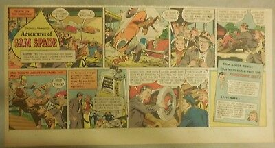 Wildroot Cream Hair Tonic Ad: The Adventures of Sam Spade ! from 1940's-50's