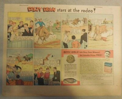 Dizzy Dean Baseball Hero Post Grape-Nuts Cereal Ad from 1930's 7 x 10 Inches