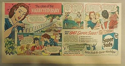 Super Suds Ad: The Case Of The Neglected Baby ! 1940's