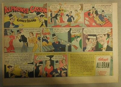 Kellogg's Cereal Ad: Alphonse & Gaston ! 1940's Size:11 x 15 inches