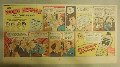 Wildroot Cream-Oil Hair Tonic Ad: Woody Herman and The Herd ! from 1940's-50's