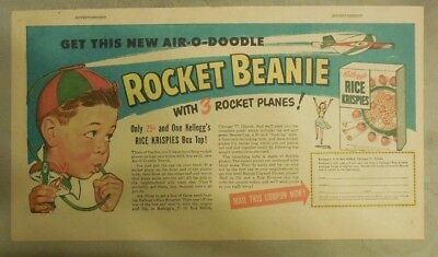 Kellogg's Cereal Ad: Rocket Beanie with 3 Rockets Premium!  7.5  x 15 inches