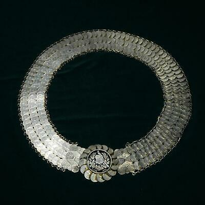 Antique 19th Century Guatemala Silver Coin Belt Handcrafted 275x 1894-1899 Reals
