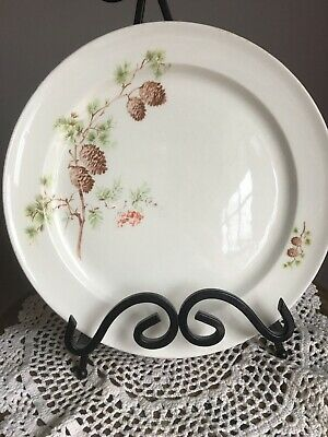 """Set of Two TAYLOR SMITH TAYLOR  PINE CONE & BERRIES Dinner Plates 9.75"""""""