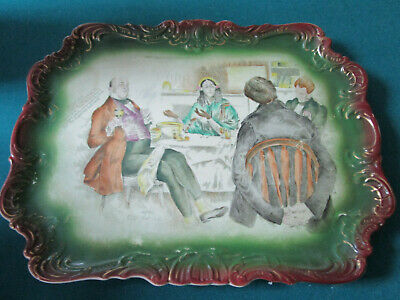 Antique Dickens tray RARE  Plate Mrs Micawber David Copperfield C D Gibson c1880