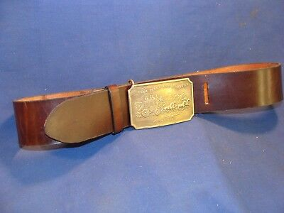 Wells Fargo & Co Stagecoach (Tiffany & Co London, England) Brass Buckle and Belt