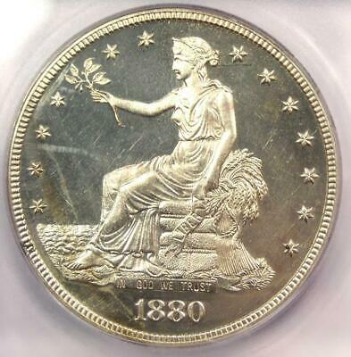 1880 PROOF Trade Silver Dollar T$1 Coin - Certified ICG PR60 Details (PF60)!