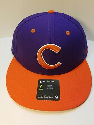buy online b1842 6139a Men s Nike Aerobill Clemson Tigers True Baseball Fitted Hat Cap Size 7 NWT