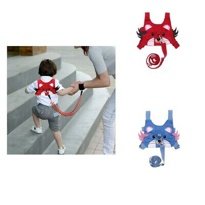 2xSafety Harness Strap Toddler Walking Anti-lost Rope Pulling Reins Backpack