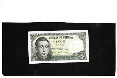 Spain Spanish 5 Pesetas  Banknote 1951