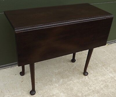Antique C18th Georgian Cuban Mahogany Drop-Leaf Dining Occasional Table