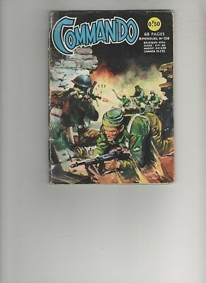 BD COMMANDO N° 120 La chute de Salerne 1966 Editions AREDIT