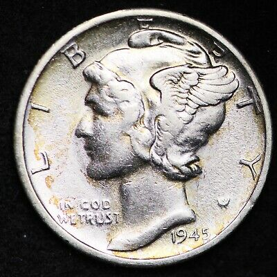 UNCIRCULATED 1945 S Mercury Silver Dime FREE SHIPPING
