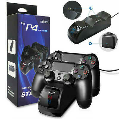 Wireless Dual Controller Charger Station for Sony PlayStation 4 PS4 Fast Charge