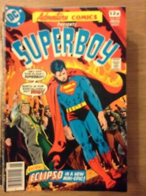 Adventure Comics (Superboy) issue 457 from June 1978 - discounted post