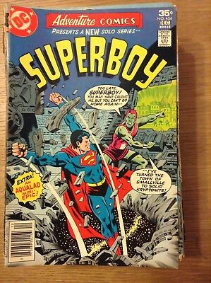 Adventure Comics (Superboy) issue 454 from December 1977 - discounted post