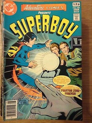 Adventure Comics (Superboy) issue 458 from August 1978 - discounted post