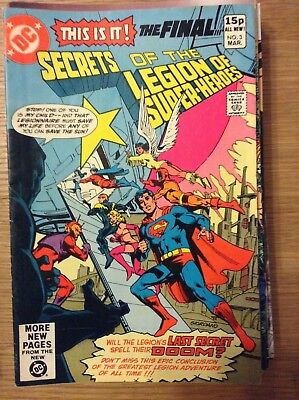 Secrets of the Legion of Super-Heroes #3 of 3 - March 1981 - discounted post