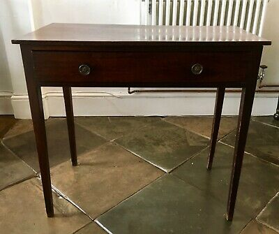 Elegant antique console side table Georgian (possibly Victorian), solid mahogany