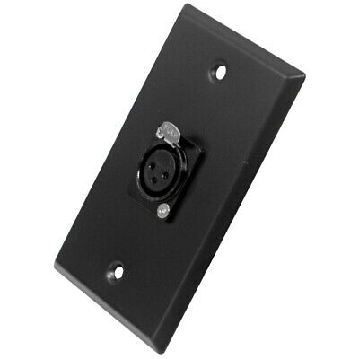 Seismic Audio - Black Stainless Steel Wall Plate - One XLR Female Connector