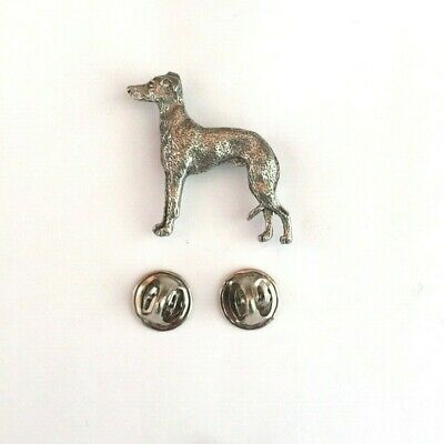 Italian Greyhound Brooch Pin Badge Copyrighted Antiqued Pewter Option Gift Box
