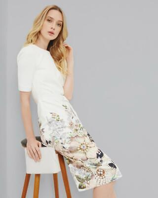 5a267f91 TED BAKER BISSLEE Chatsworth Floral Print Bodycon Dress size 0, 1, 2 ...