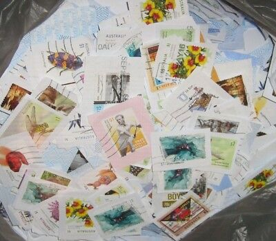 600 plus 1 Dollar High Value Stamps Cancelled as Pictured on Paper Kiloware