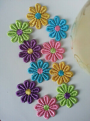 Motifs Guipure Daisy Motifs Sew On Flower Applique Assorted colours free pp.