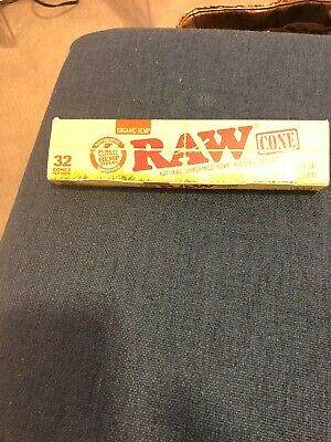RAW Organic Unrefined Pre-Rolled Cone 32 Pack King Size