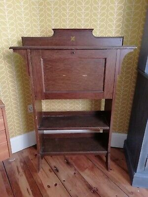 Arts And Crafts Art Deco Nouveau Oak Student Bureau